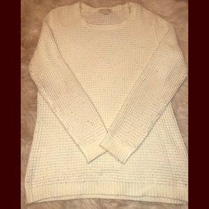F21+ Cream Waffle Knit Sweater Size 1X